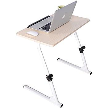 60cm GOTOTOP Tavolino da Letto Tavolo Porta Laptop con Ruote per Notebook PC con Piattaforma Divano Tavolo,per Letto e Divano,48 Bianco 30