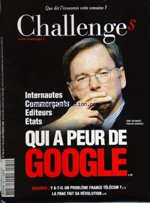 challenges-no-180-du-17-09-2009-qui-a-peur-de-google-eric-schmidt-suicides-y-a-t-il-un-probleme-fran