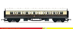 Hornby - Tren GWR Composite Coach, color marrón y crema (R4523) , Modelos/colores Surtidos, 1 Unidad