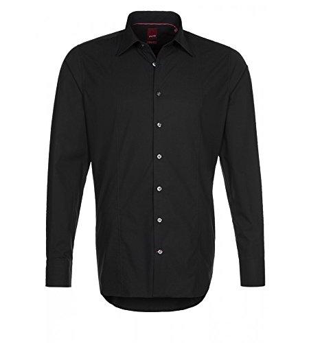 Michaelax-Fashion-Trade -  Camicia classiche  - Basic - Con bottoni  - Maniche lunghe  - Uomo Schwarz (07)