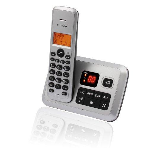 OLYMPIA 2141 Certo schnurloses Telefon mit Anrufbeantworter silber