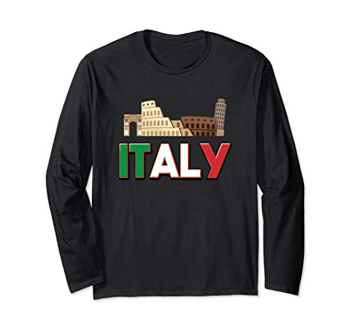 Italian City Illustration! Visit Italy Long Sleeve T-Shirt