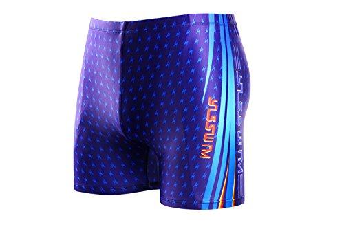 Demarkt Summer Homme Shorts De Bain Boy's Maillot De Bain Beach Surf Swimwear Sport de Plein Air Taille Asiatique Bleu17