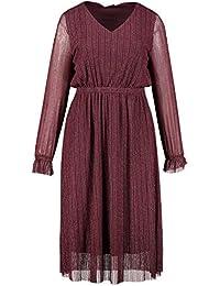 Studio Untold Damen große Größen Midi-Kleid, Glitzermesh mit Futter 720286