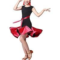 SPDYCESS Vestito da Ballo Latino Moda Danza Abito - Samba Salsa Danza Abbigliamento Gonna Senza Maniche Costume da Festa Carnevale Principessa da Vestito