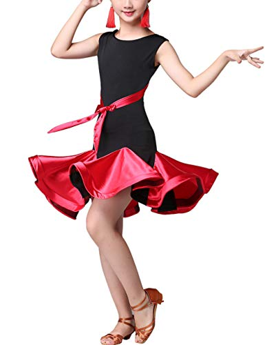 SPDYCESS Lateinkleid Tanz Kleider Mode Dancewear - Rumba Tango Salsa Performance Kleidung Ballsaal Kostüm Party Karneval Prinzessin Rock Kleid Dress (Party Tanz Kostüm)