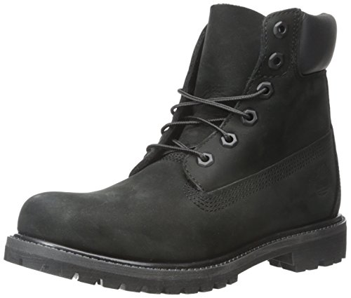 Timberland Damen 6 In Premium Waterproof (Wide fit) Klassische Stiefel, Schwarz (Black Waterbuck), 40 EU
