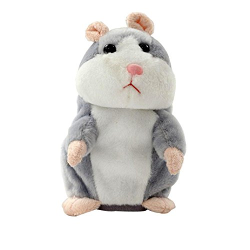 Sprechen Spielzeug Hamster (Plüschtiere für Kinder Hamster Maus Entzückende Interessante Sprechen Reden Rekord Hamster Maus Plüsch Kinder Spielzeug Geschenk (Grau))