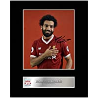Mohamed Mo Salah Signed Mounted Photo Display Liverpool FC #1 Autographed Gift Picture Print