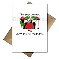 90s TV Show Friends Christmas Card - The one Where It