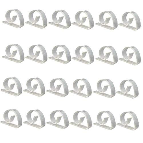 Zonfer 50 Stück Kunststoff Transparent Tischdecke Clip Tabelle Rock Tough Fest Clip Tischtuch Clamp -