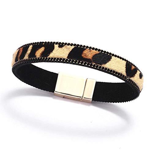 Damen Armbänder Trend Pferdehaar Leopard Magnetische Schnalle Zeigen Mode Trend Kreative Persönlichkeit Einfachen Charme Handgelenk Schmuck Jahrestag Geburtstagsgeschenk Einzigartiges Design Schmuck