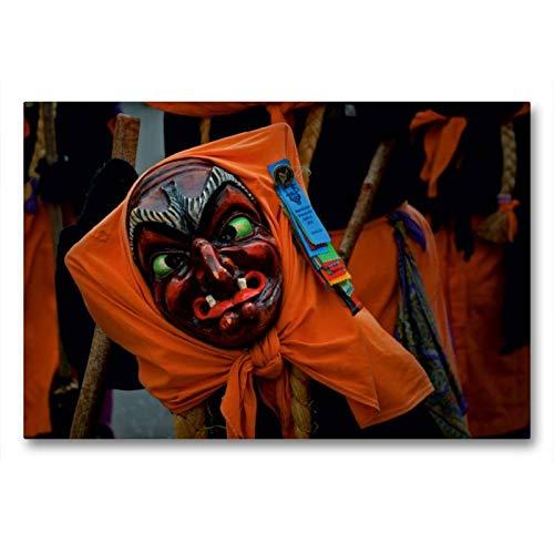 Calvendo Premium Textil-Leinwand 90 cm x 60 cm quer, Hexenliesel | Wandbild, Bild auf Keilrahmen, Fertigbild auf echter Leinwand, Leinwanddruck: der Schwarze Veri Zunft Ravensburg Menschen Menschen (Hexen Kostüm Bilder)