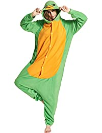 Unisex Animal Pijama Ropa de Dormir Cosplay Kigurumi Onesie Tortuga Disfraz para Adulto Entre 1,
