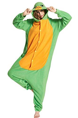 ildkröte Erwachsene Unisex Cospaly Onesies Nachtwäsche für Hohe 160-175CM (Erwachsene Schildkröten Kostüme)