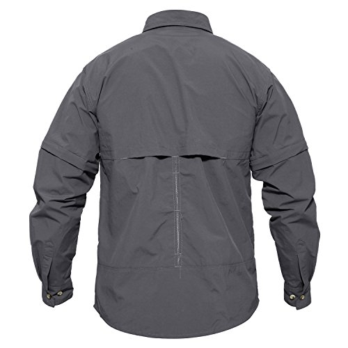 41pkYLLX8pL. SS500  - MAGCOMSEN Quick Dry Breathable Convertible Men's Long Sleeve Shirt for Hiking Work Military
