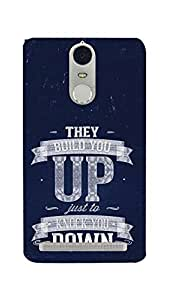 INKONN They Build You Up Case Cover For Lenovo Vibe K5 Note