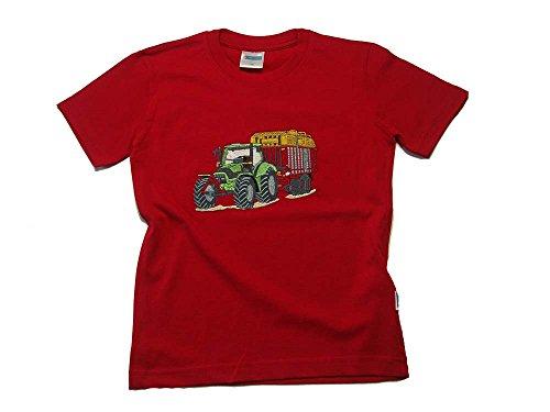 Zintgraf ÖkoTex T-Shirt Stickerei Traktor Silagewagen #T24 (110, Rot)