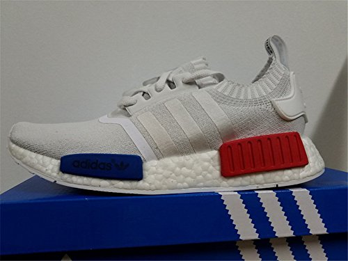 Adidas NMD Runner PK, vintage white/vintage white/lush red Multicolore