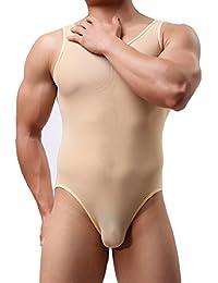 IINIIM Homme Sous-vêtement Lingerie Transpqrent Collant Maillot de Corps Thong Bikini