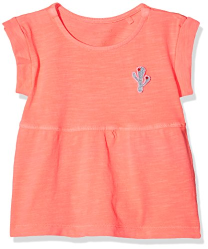 NAME IT Baby-Mädchen Kleid Nbfdenan SS Tunic, Rosa (Neon Coral), 74