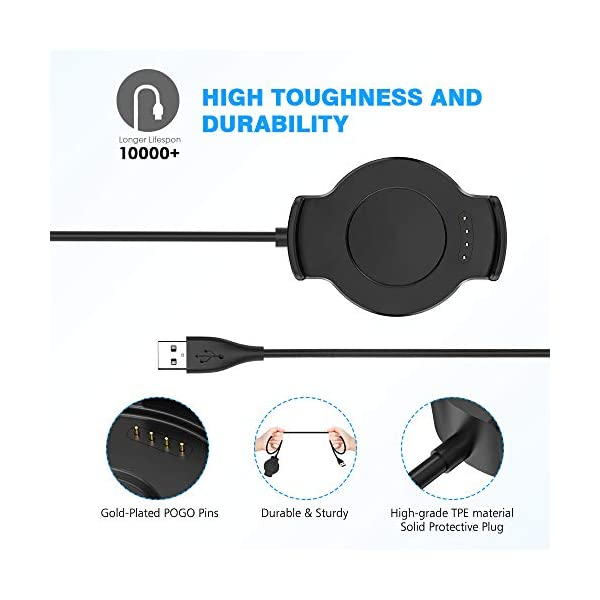 KIMILAR Cable Compatible con Huawei Watch 2 / Watch 2 Pro Cargador, [2 Pack] Base de Carga USB Compatible con Huawei… 4