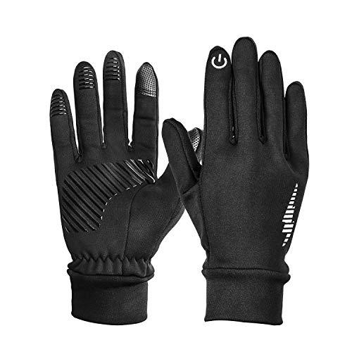 HiCool Touchscreen-Handschuhe, Touch Gloves Smartphone Handschuhe für Radfahren, Motorradfahren, Wandern und andere Outdoor-Aktivitäten (Schwarz, S)