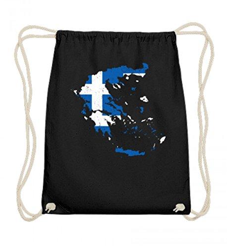 Hochwertige Baumwoll Gymsac - Griechenland Greece Stolzes Fussball Fan Sport Ländershirt Trikot Landkarte Geschenk