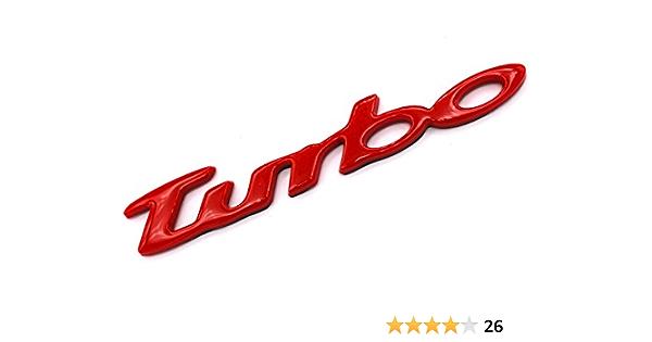 3d Turbo Emblem Rot Abs Kunststoff Mit Schaumstoff Kleberückseite Badge Von Vmg Store Auto