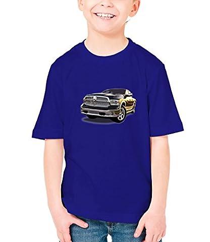 Billion Group | Power View | American Motor Cars | Boys Classic Crew Neck T-Shirt Dark Blue Medium