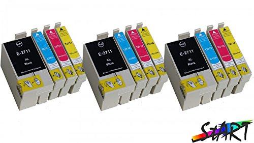 Start - 12 CHIP Cartucce compatibili per Epson 27XL, T2711XL, T2712XL, T2713XL, T2714XL
