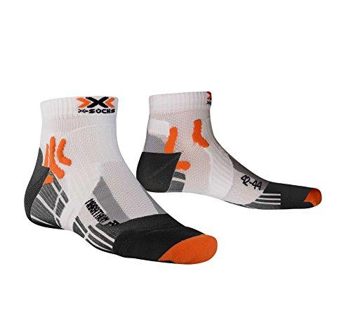 x-socks-marathon-run-calcetines-unisex-para-deporte-multicolor-white-black-talla39-41