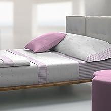 Tolrà T0942 - Juego de sabanas 3 piezas de franela 100% algodón para cama de 105, color lila