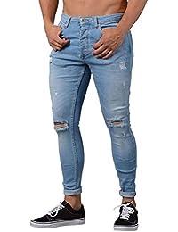 e73b8074767d Tomwell Jeans da Uomo Strappati Jeans con Tasche Taglio Straigh Pantaloni  Skinny Mode Casual Sguardo Distrutto