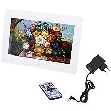 Andoer 10'' HD TFT-LCD 1024*600 Marco Digital de Fotos MP3 MP4 Movie Player con Escritorio Remoto Blanco