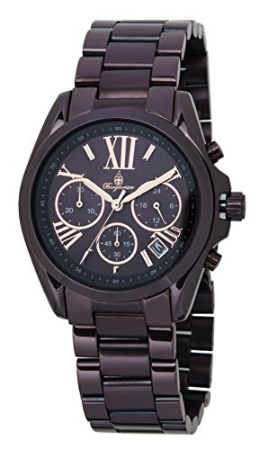 Burgmeister Damen Analog Quarz Uhr mit Edelstahl beschichtet Armband BM337-095