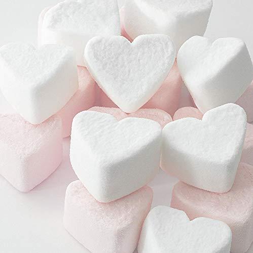 1kg Retro Candy Marshmallow Herzen rosa weiß Hochzeit Gastgeschenke Candy Bar Premium Qualität