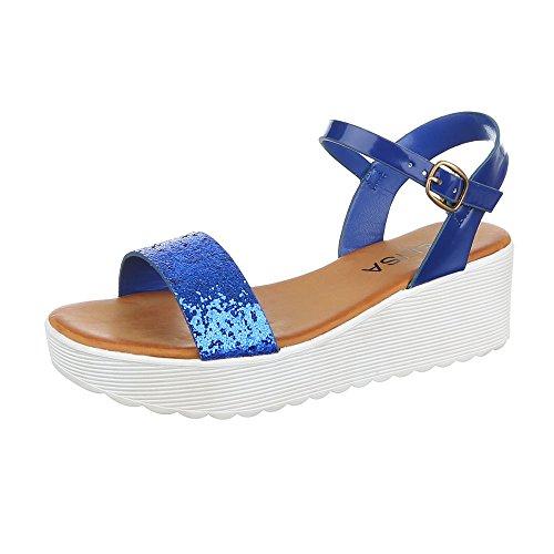 Ital-Design , Spartiates femme Bleu