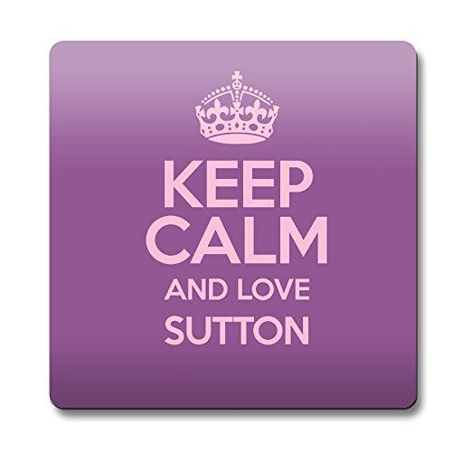 """Colore: viola, motivo: """"Keep Calm and Love Sutton Sottobicchiere 0638-Stivaletti colore alla caviglia"""
