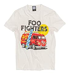 Amplified Off White FOO Fighters Camper Van T Shirt from