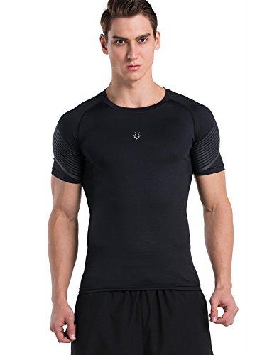 Red Plume Herren Freizeit Sport atmungsaktiv schnell trocknend T-shirt Übung laufen Fitness Top (color3, (Halloween Väter Für Kostüme Schnelle)