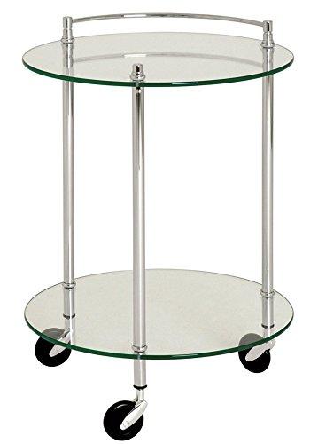 PEGANE Table pour desserte en Tube d'acier Coloris Chromé, Dim : Hauteur 63 cm