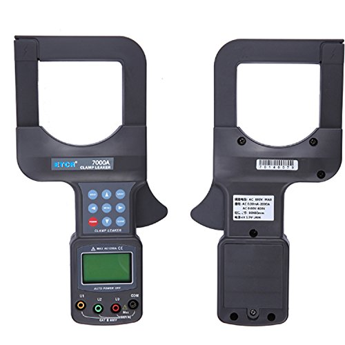 Multímetro Amperimetrica Digital, Amperímetro Medidor de abrazadera de fuga de gran calibre Detector de voltaje Medidor de abrazadera de corriente ETCR 7000A Clamp Meter
