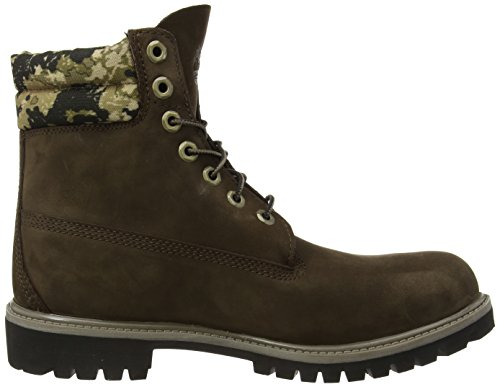 Timberland 6 in Boot Ftb 6 in Double Collar Boot  Men   s Padded boots classic short leg  Brown  Brown With Camo   7 UK