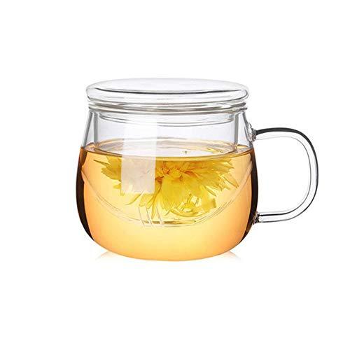 Munxag 300ml Doppelwandschicht Tasse mit Infuser und Deckel Hitzebeständiger Loose Leaf Teesieb...