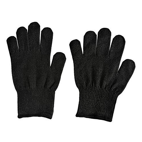 Remylady® 1 Paar Schnittschutzhandschuhe Schnittschutzhandschuh Schnittschutz Handschuhe Level 5 Schutz Lebensmittelecht (M, Schwarz und Grau)