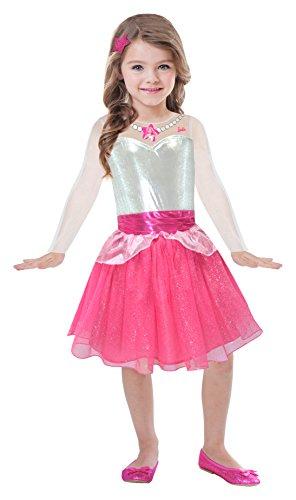 Amscan BA106 - Barbie Vestito Rock & Royals, Rosa, 5-7 anni