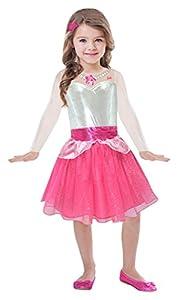 amscan - Disfraz deBarbie para niñas - Vestido Rock & Royals - Modelo n. BA105 Barbie 8-10 anni Rosa