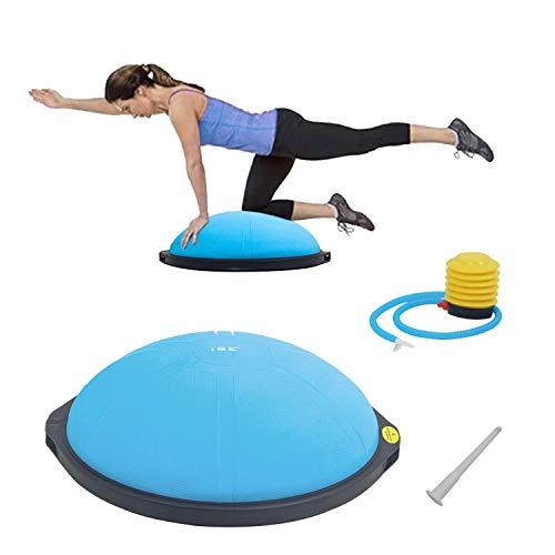 ISE Balance Trainer Ball Mezza Palla Ø 64 cm, Attrezzatura Fitness per Pilates, Yoga, Palestra Domestica,Formazione per Modellare, Max. 300 kg, SY-BAS1002 (Blu)