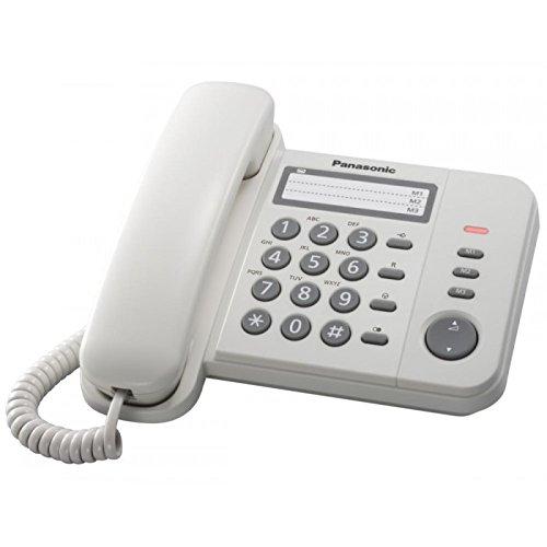Panasonic KX-TS520 - Teléfono (Teléfono DECT, Blanco)